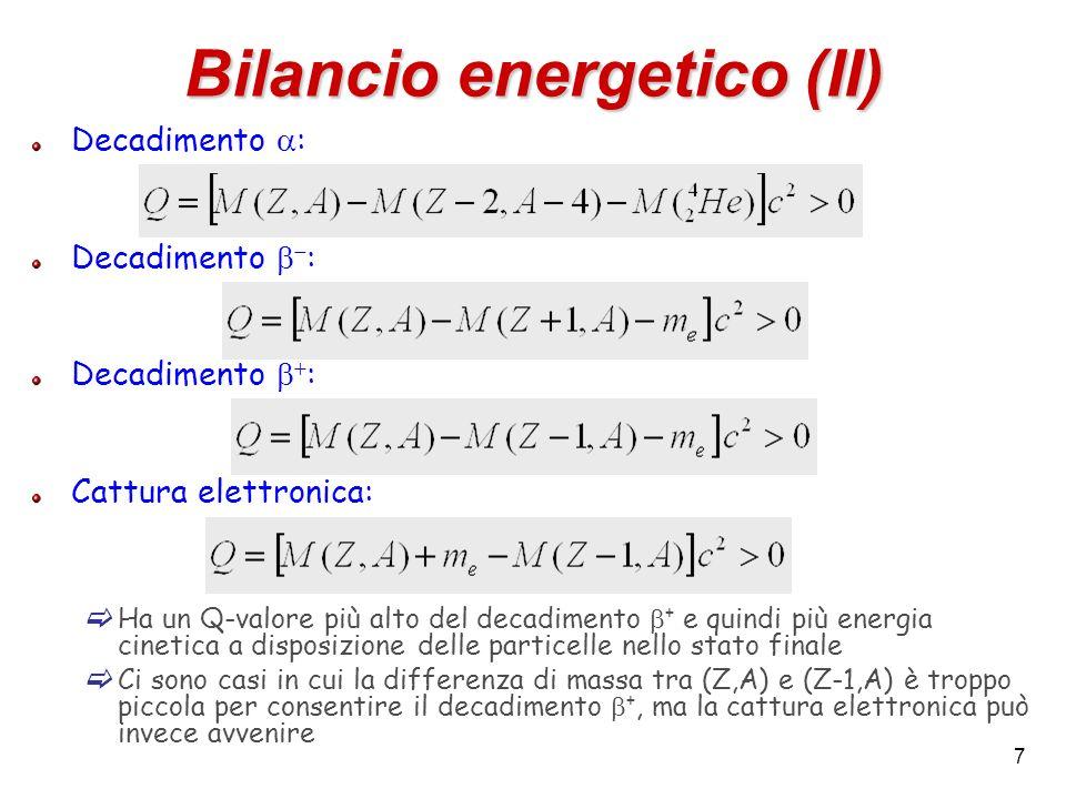 Bilancio energetico (II)