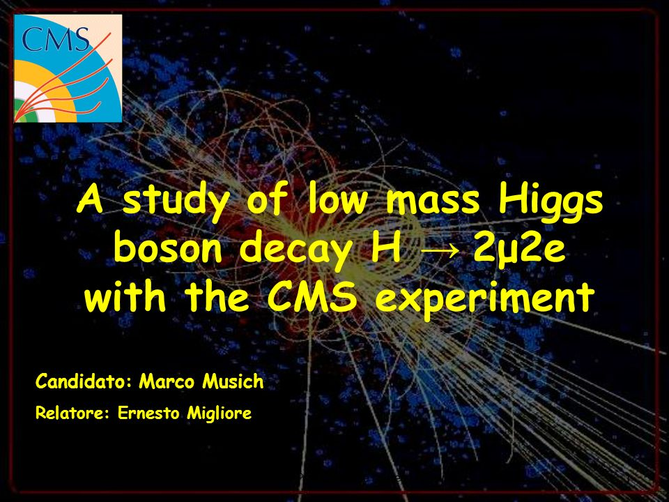 A study of low mass Higgs boson decay H → 2μ2e with the CMS experiment