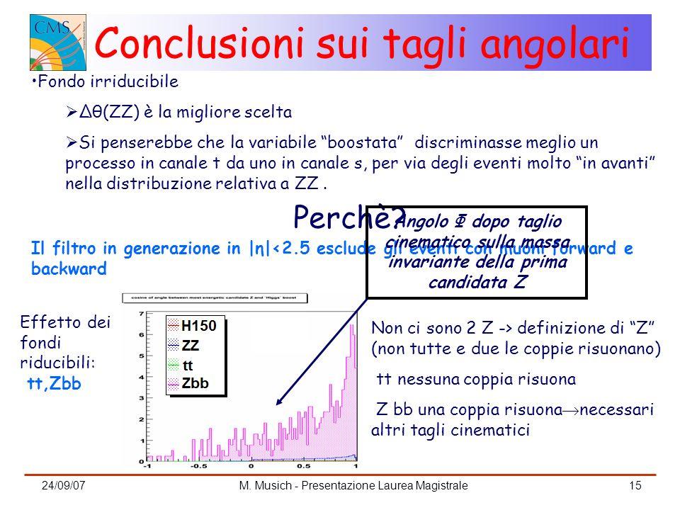 Conclusioni sui tagli angolari