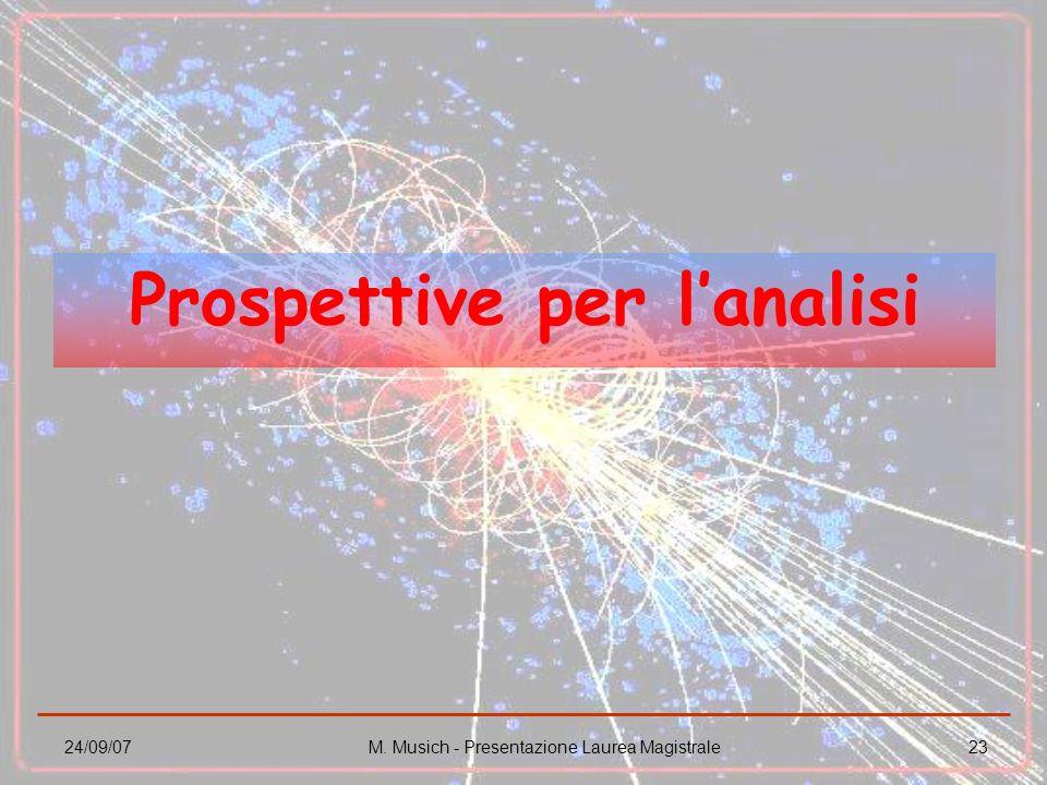 Prospettive per l'analisi
