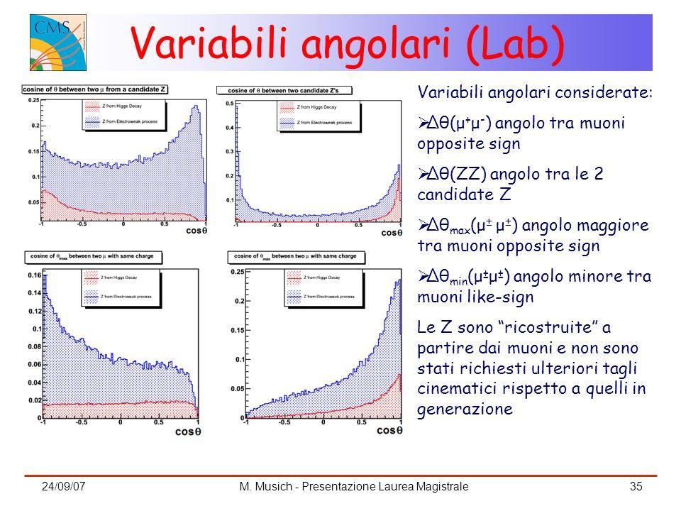 Variabili angolari (Lab)