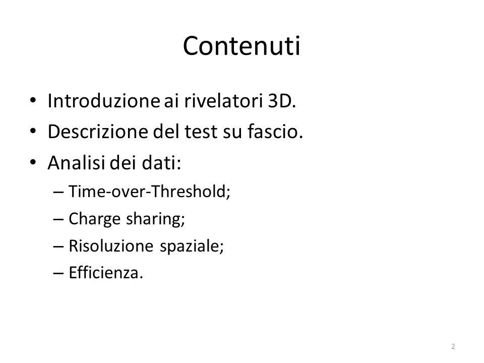 Contenuti Introduzione ai rivelatori 3D.