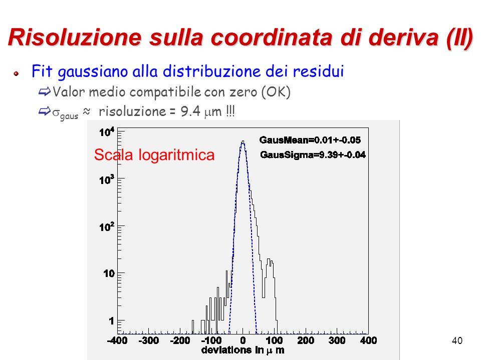 Risoluzione sulla coordinata di deriva (II)