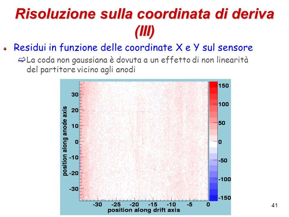 Risoluzione sulla coordinata di deriva (III)