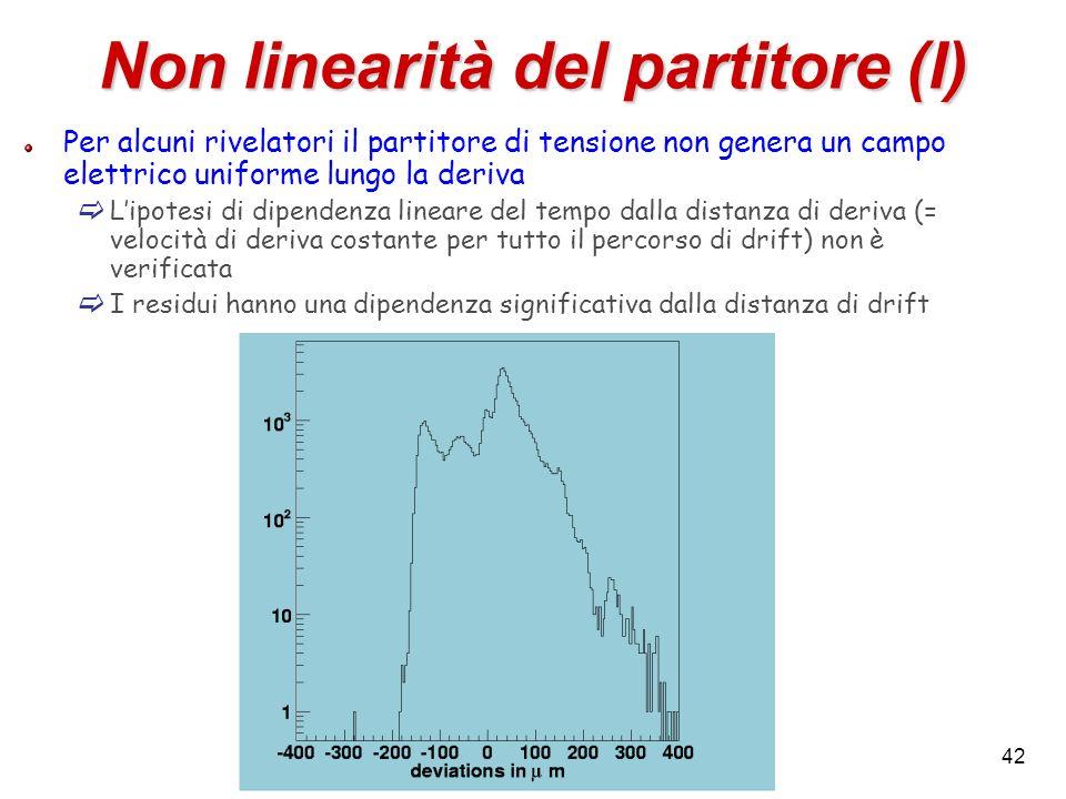 Non linearità del partitore (I)