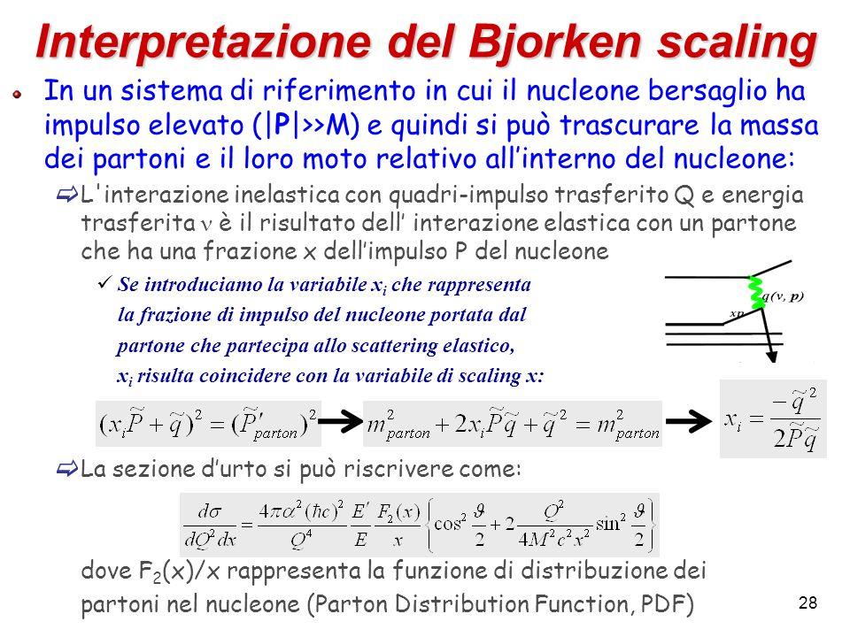 Interpretazione del Bjorken scaling