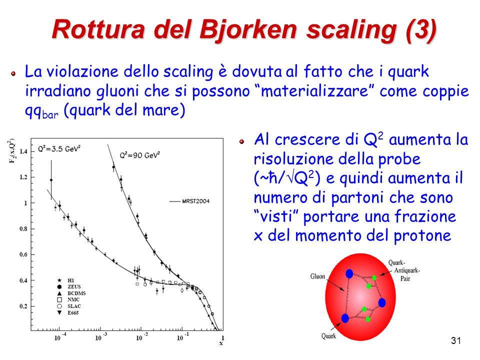 Rottura del Bjorken scaling (3)