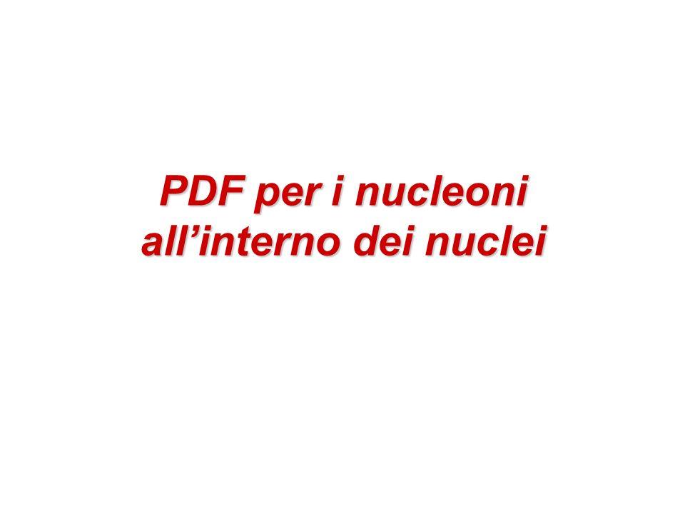 PDF per i nucleoni all'interno dei nuclei