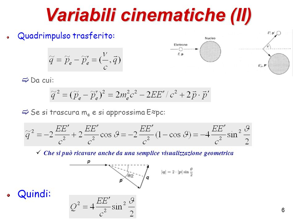 Variabili cinematiche (II)