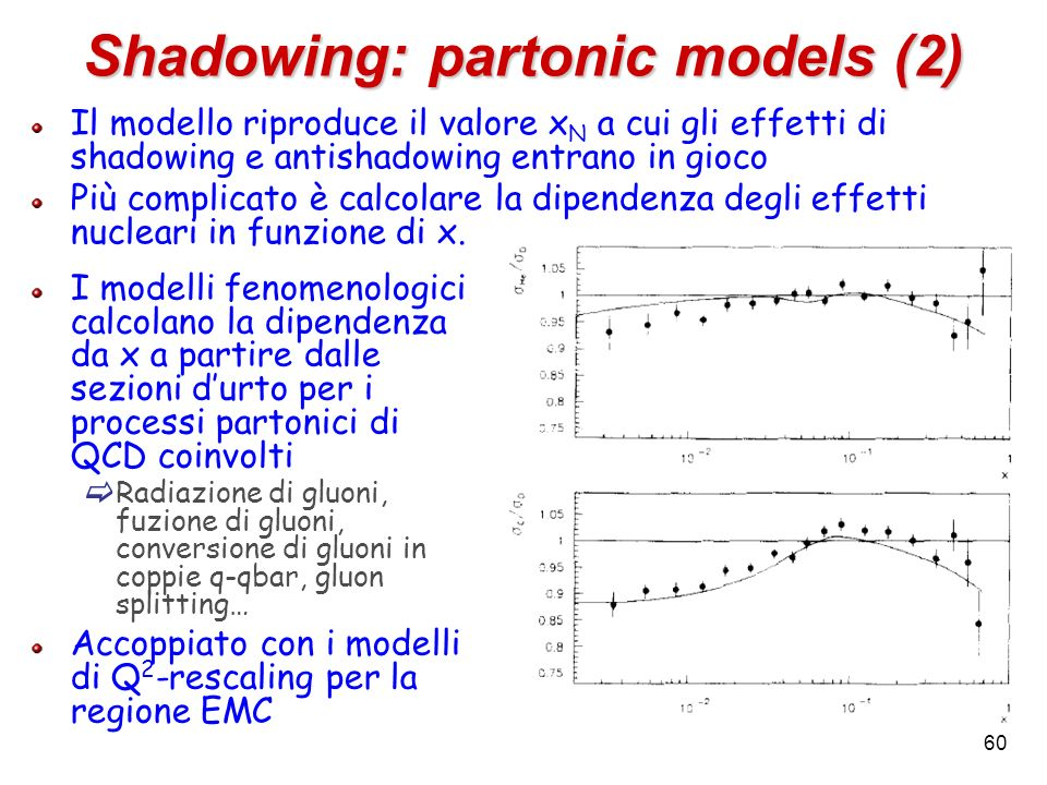 Shadowing: partonic models (2)