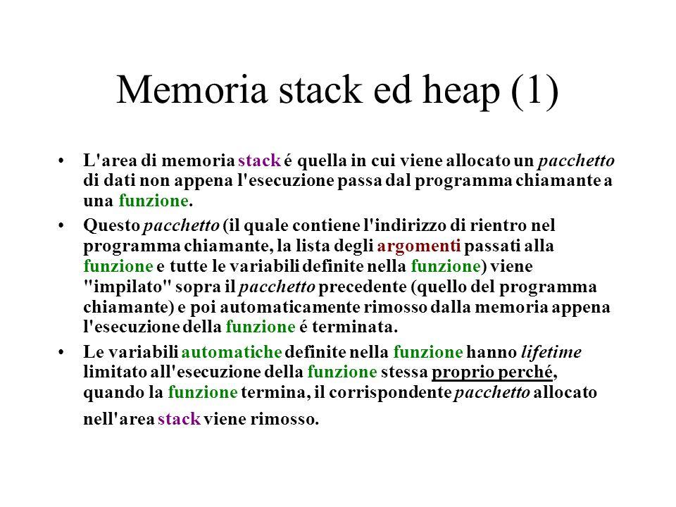 Memoria stack ed heap (1)