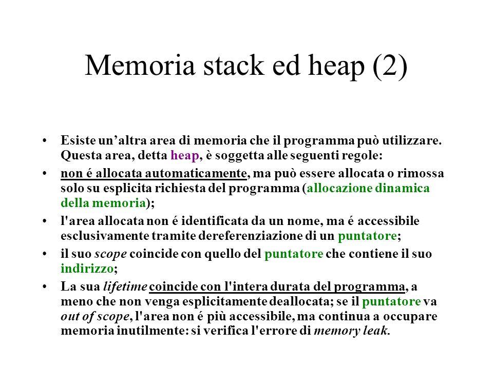 Memoria stack ed heap (2)