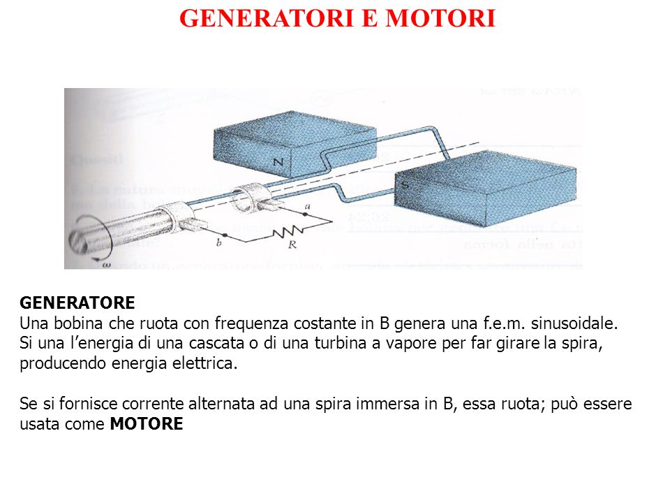 GENERATORI E MOTORI GENERATORE