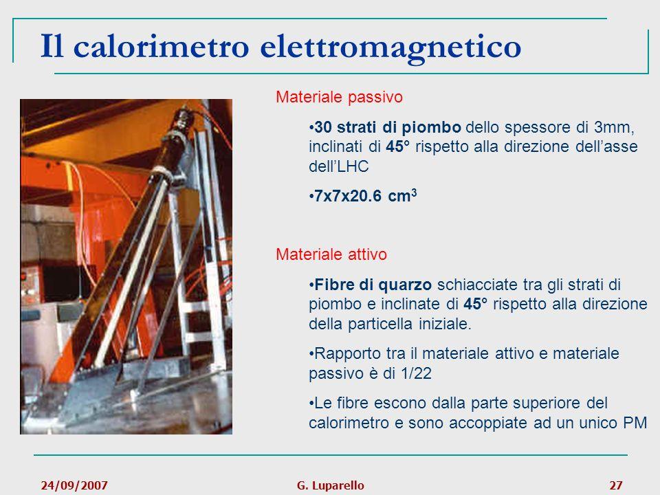 Il calorimetro elettromagnetico