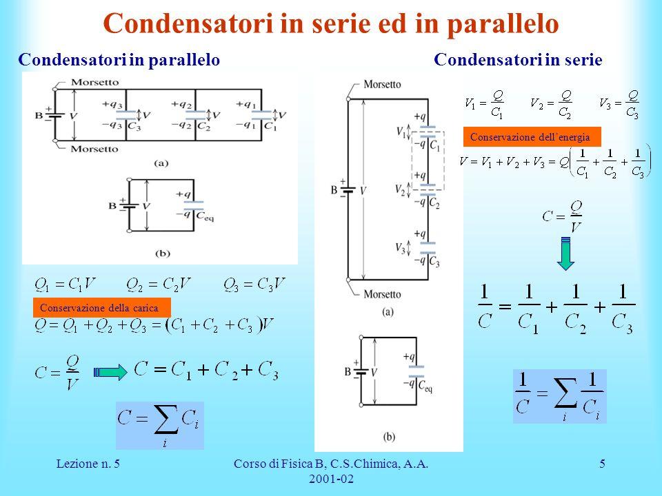Condensatori in serie ed in parallelo