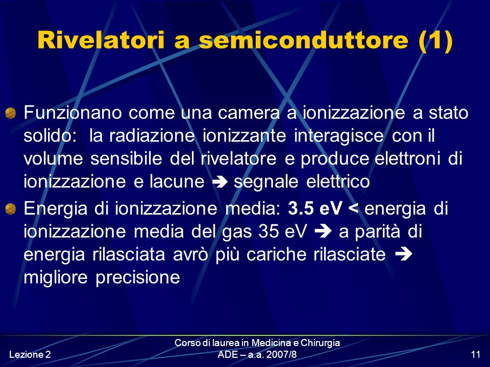 Rivelatori a semiconduttore (1)