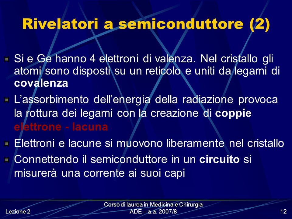 Rivelatori a semiconduttore (2)