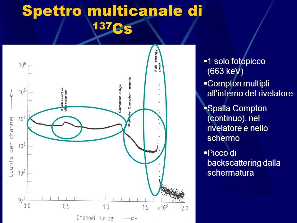 Spettro multicanale di 137Cs