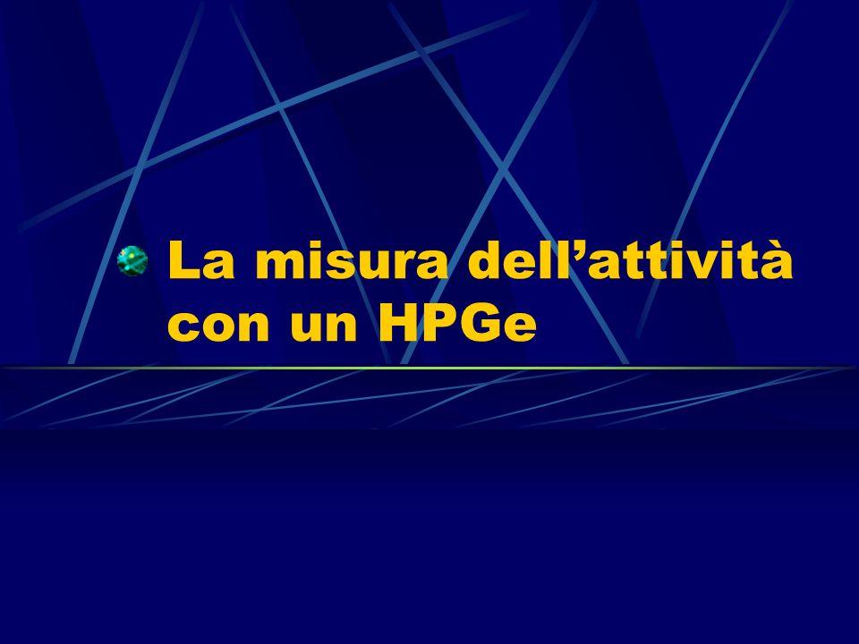 La misura dell'attività con un HPGe