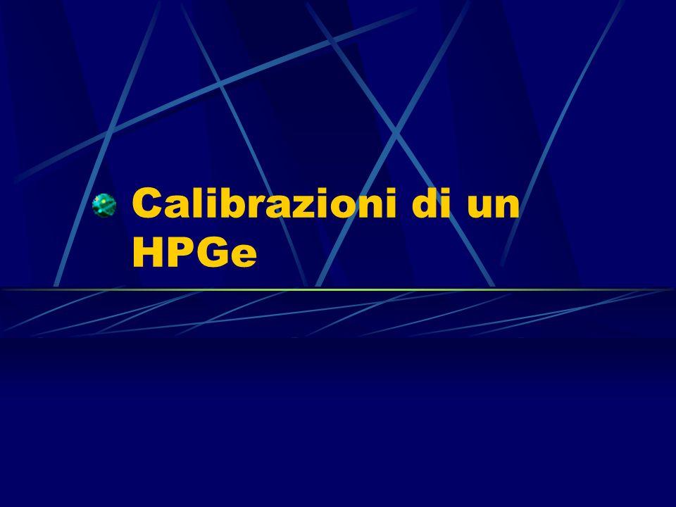 Calibrazioni di un HPGe