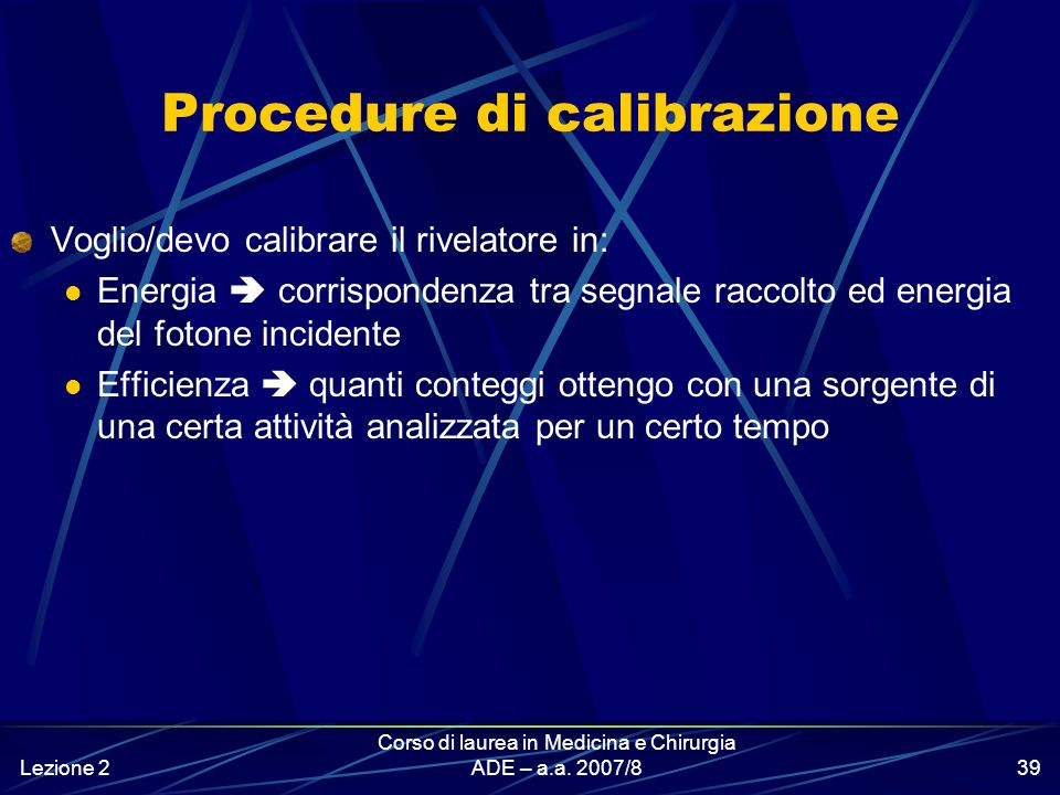 Procedure di calibrazione
