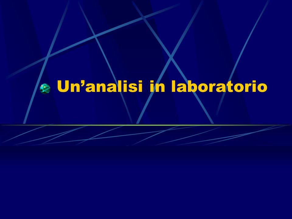 Un'analisi in laboratorio
