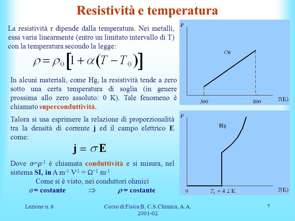 Resistività e temperatura