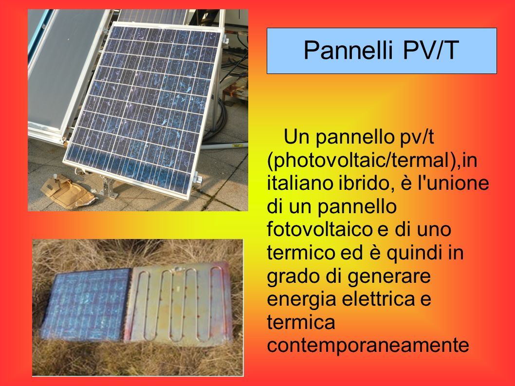 Pannelli PV/T