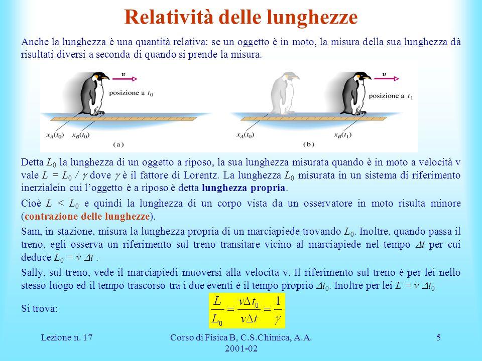 Relatività delle lunghezze