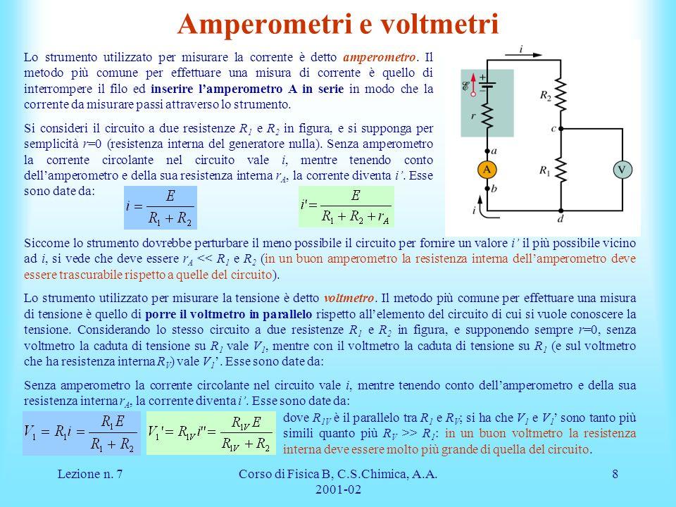 Amperometri e voltmetri