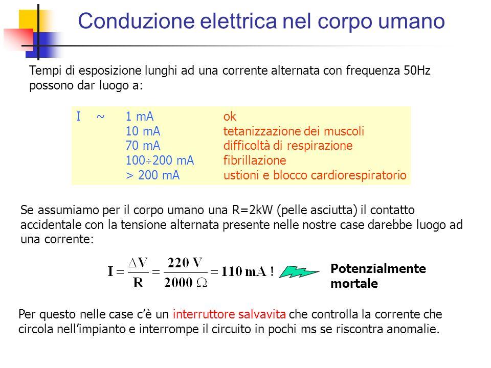 Conduzione elettrica nel corpo umano