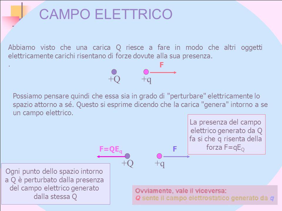CAMPO ELETTRICO +Q +q +Q +q