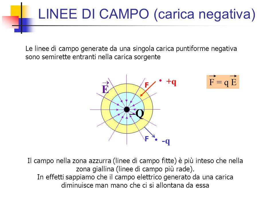 LINEE DI CAMPO (carica negativa)