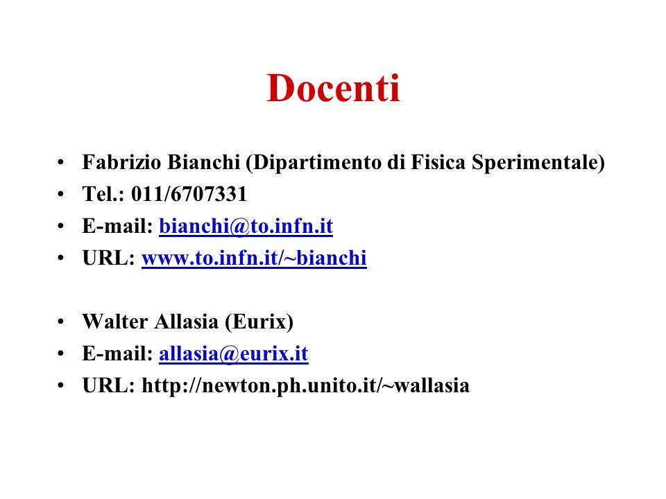 Docenti Fabrizio Bianchi (Dipartimento di Fisica Sperimentale)