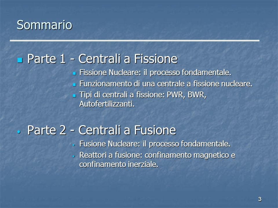 Parte 1 - Centrali a Fissione