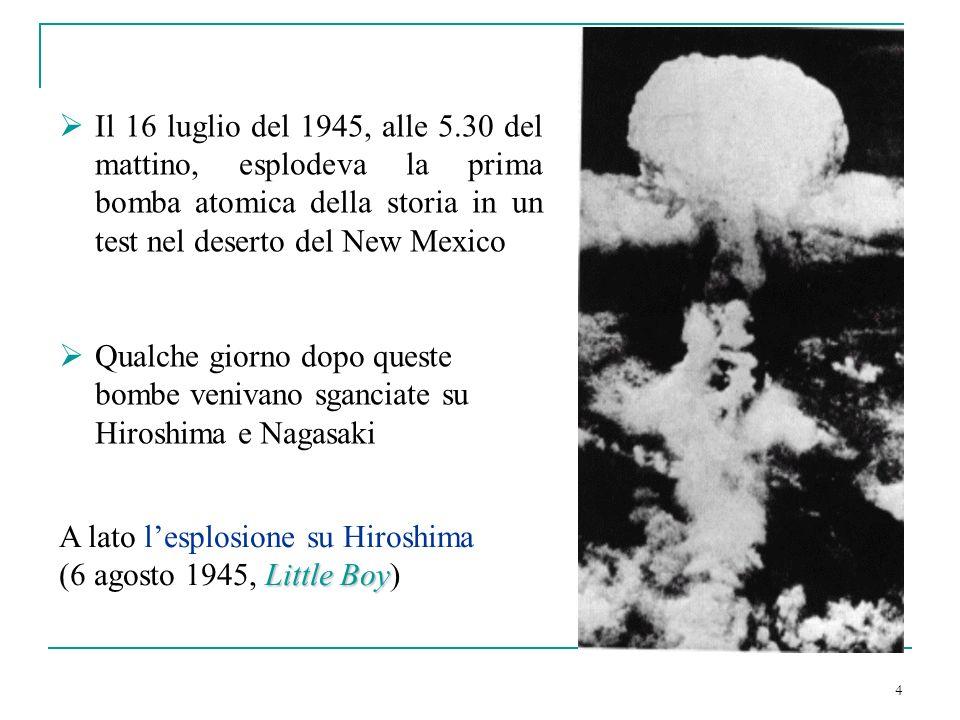 Il 16 luglio del 1945, alle 5.30 del mattino, esplodeva la prima bomba atomica della storia in un test nel deserto del New Mexico