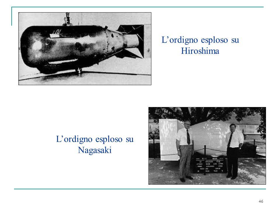 L'ordigno esploso su Hiroshima