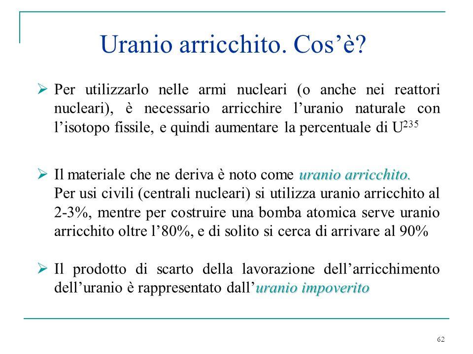 Uranio arricchito. Cos'è