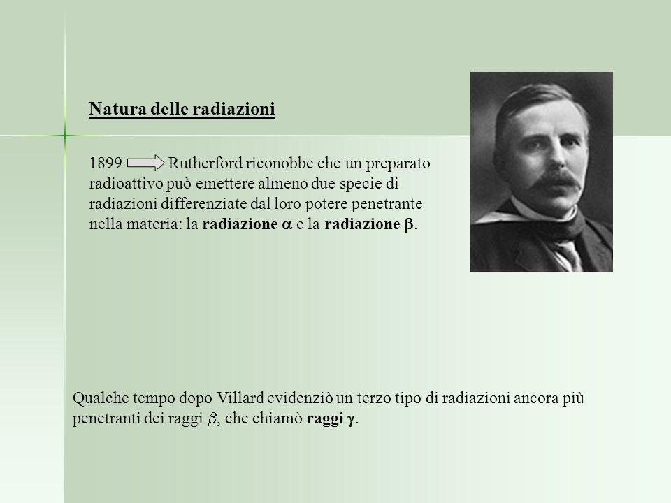 Natura delle radiazioni