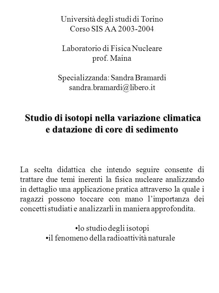 Università degli studi di Torino Corso SIS AA 2003-2004