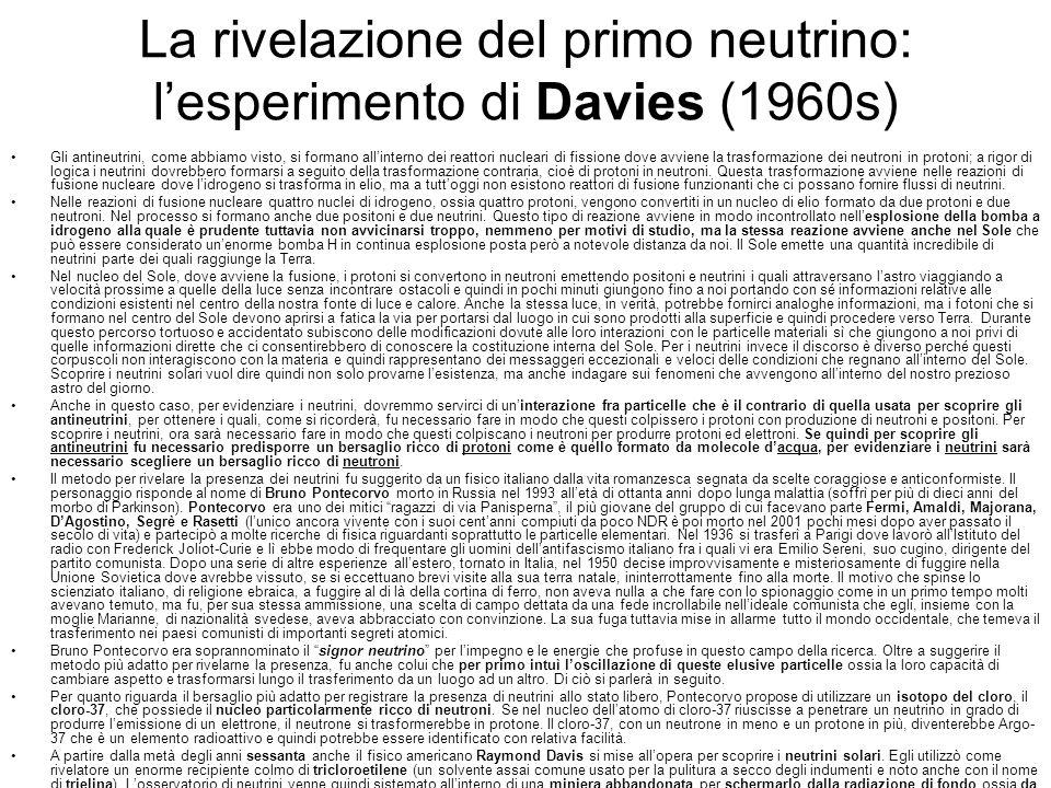 La rivelazione del primo neutrino: l'esperimento di Davies (1960s)