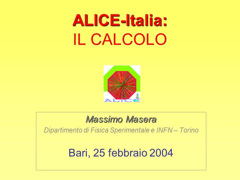 ALICE-Italia: IL CALCOLO