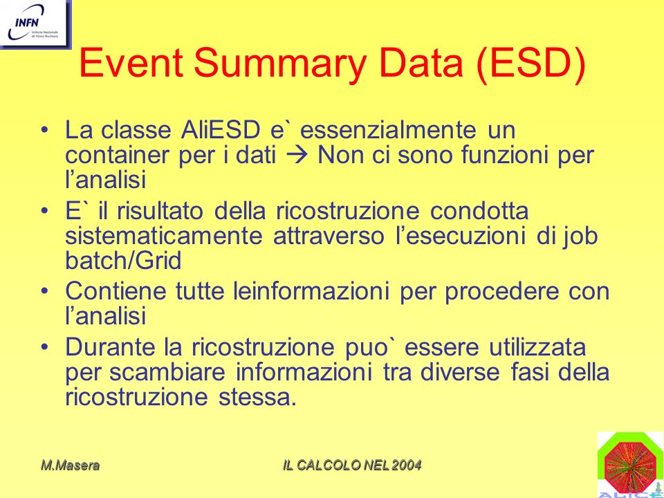 Event Summary Data (ESD)
