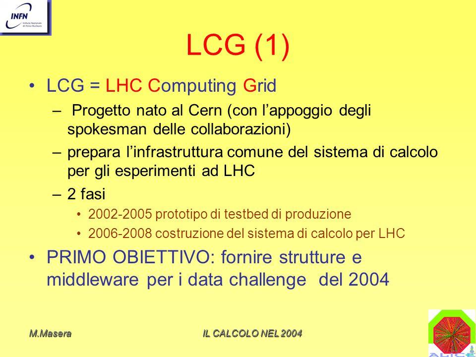 LCG (1) LCG = LHC Computing Grid