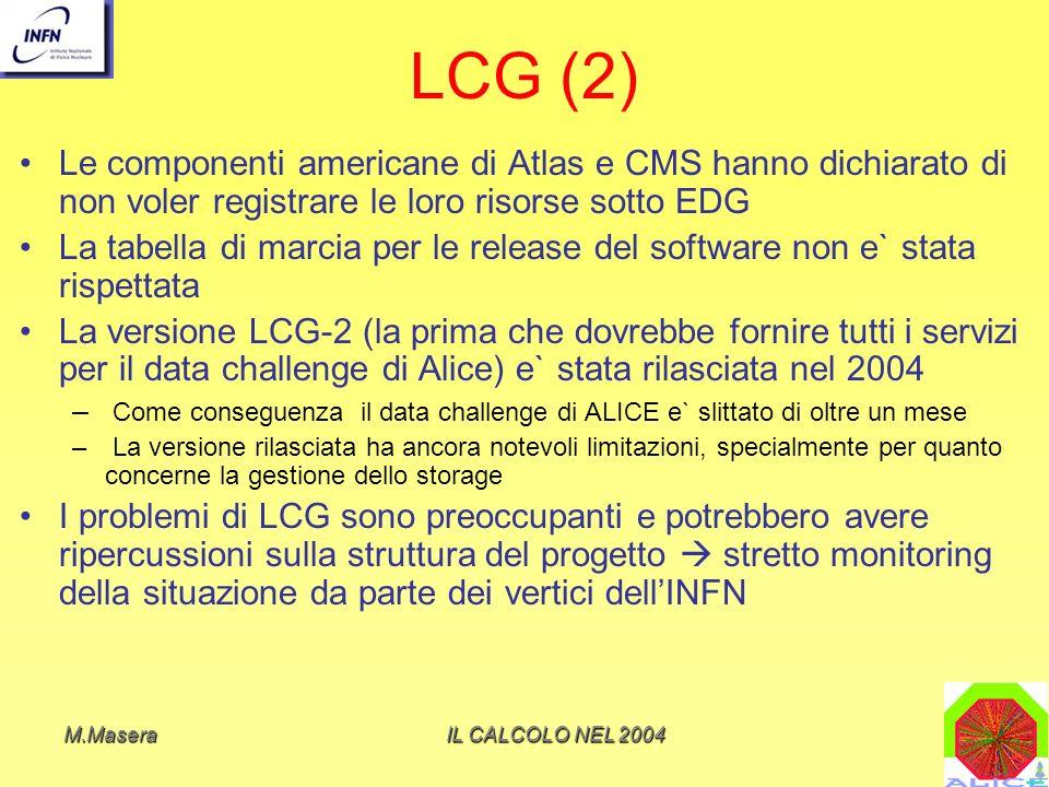LCG (2) Le componenti americane di Atlas e CMS hanno dichiarato di non voler registrare le loro risorse sotto EDG.