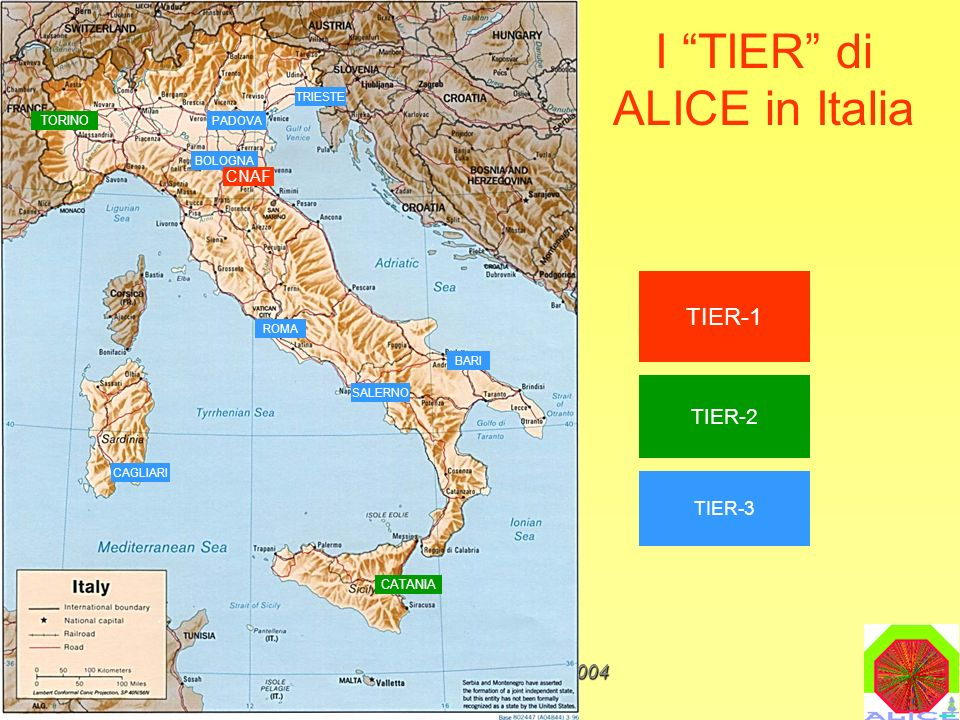 I TIER di ALICE in Italia
