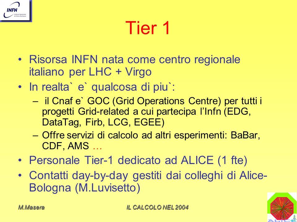 Tier 1 Risorsa INFN nata come centro regionale italiano per LHC + Virgo. In realta` e` qualcosa di piu`: