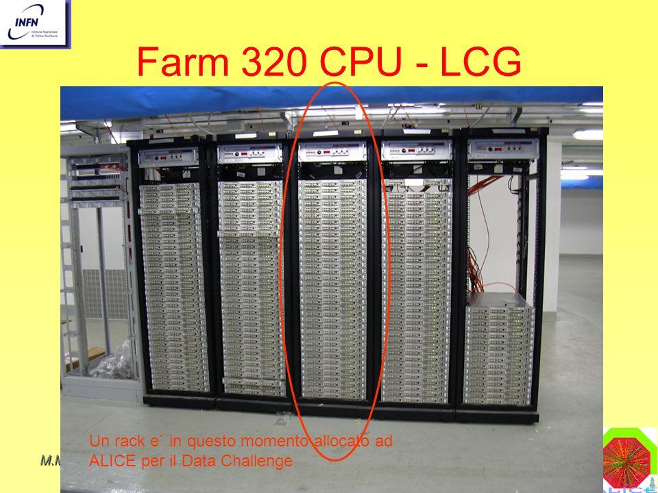 Farm 320 CPU - LCG Un rack e` in questo momento allocato ad ALICE per il Data Challenge. M.Masera.