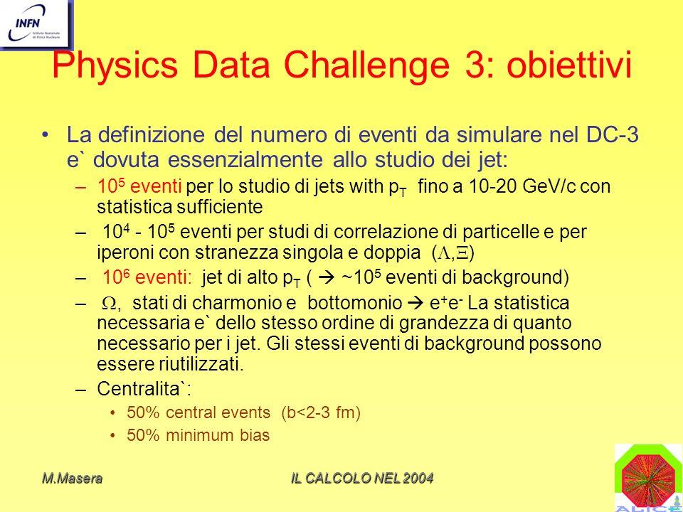 Physics Data Challenge 3: obiettivi
