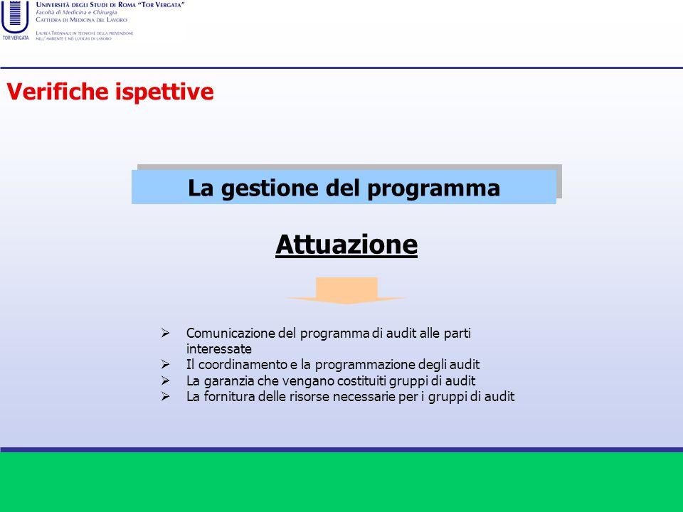 La gestione del programma